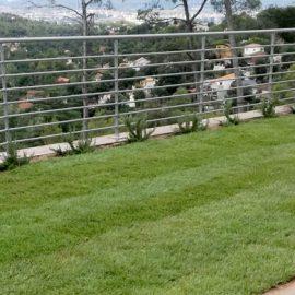 Obras en un jardín de una vivienda unifamiliar de La Floresta