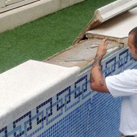 Reparación grieta en piscina